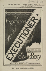 Advert For 'My Experiences As An Executioner' By James Berry